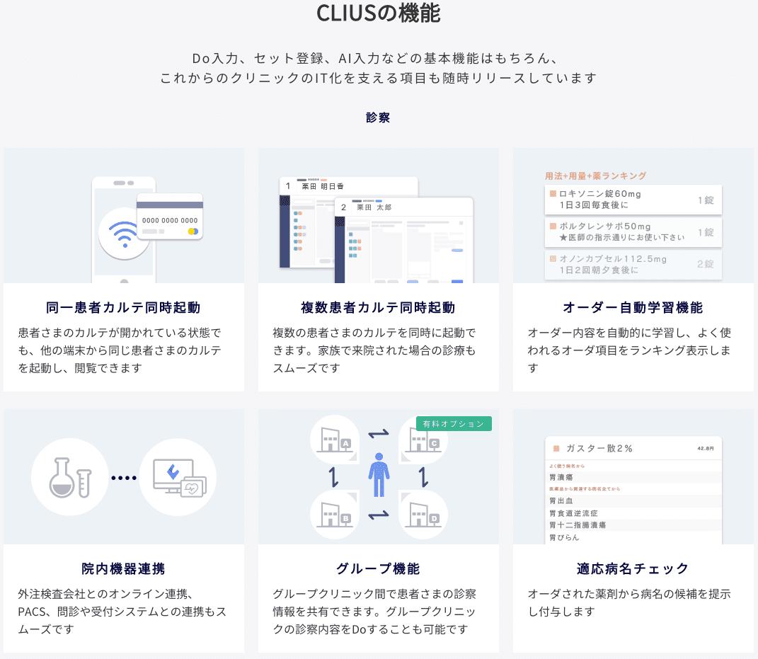 CLIUSの機能・連携